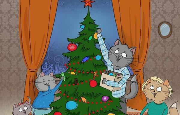 Новогодние заботы и коты